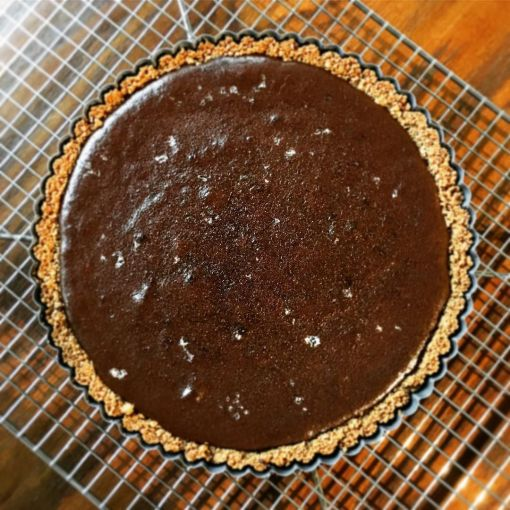 dark_chocolate_and_sea_salt_tart_with_a_ginger_snap_crust ...